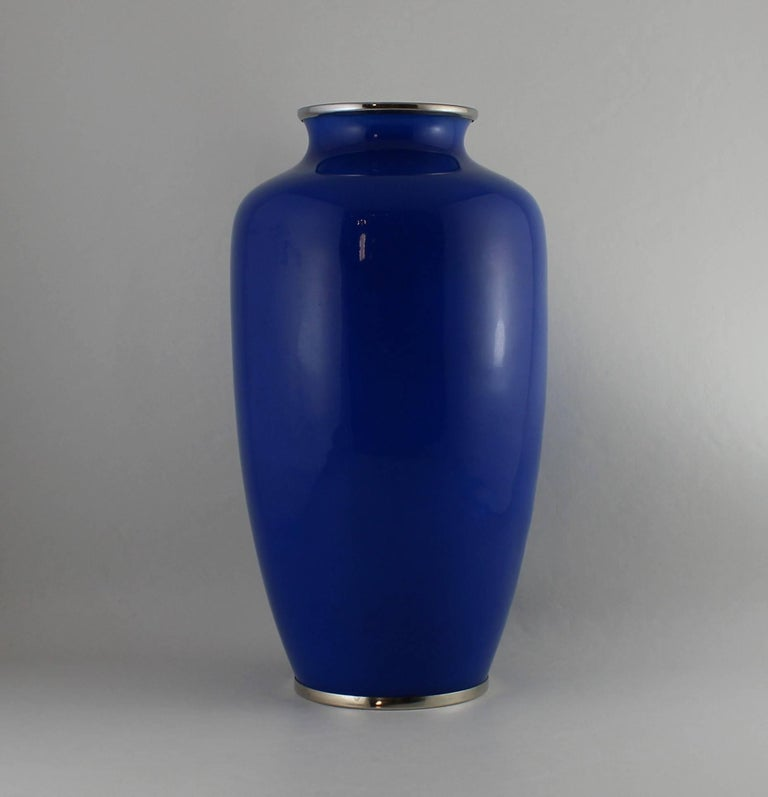 Japanese Wireless Cloisonne Vase For Sale 2