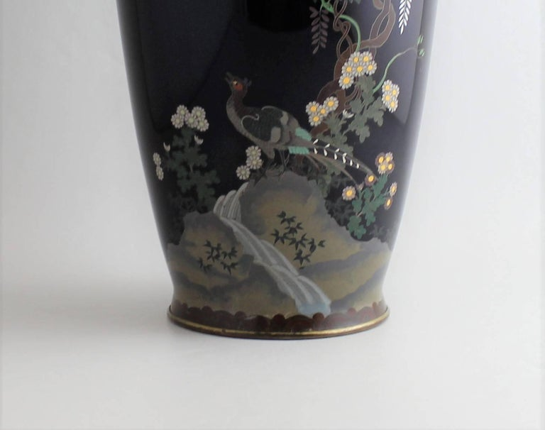 Japanese Meiji Period Cloisonne Vase For Sale 1