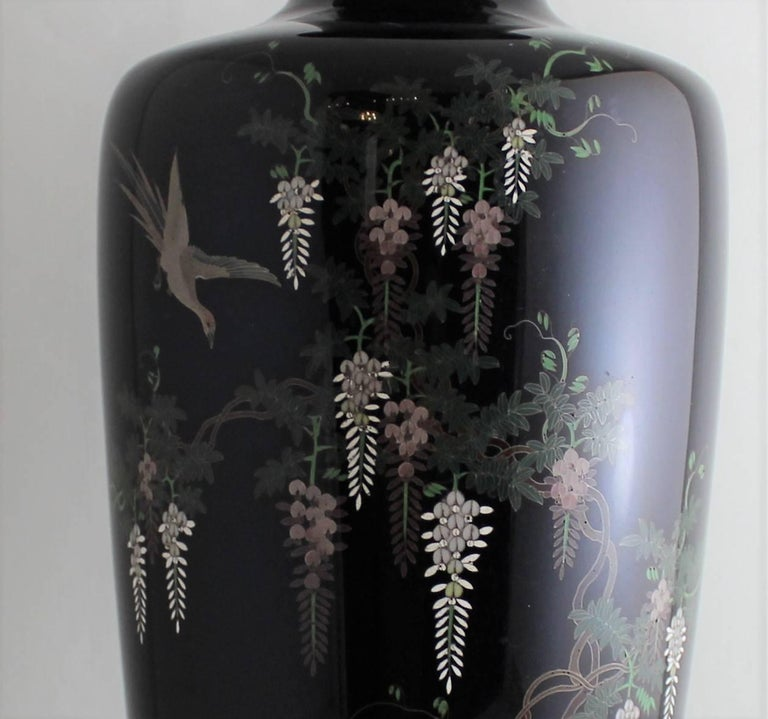 Japanese Meiji Period Cloisonne Vase For Sale 2