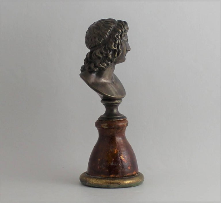 19th Century Classical Bronze Bust In Good Condition For Sale In Hamilton, Ontario