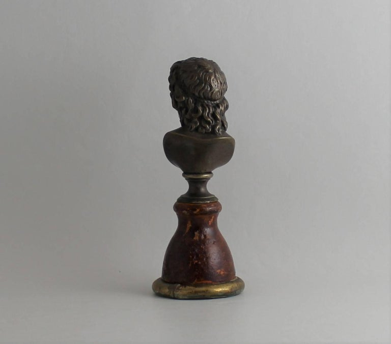 19th Century Classical Bronze Bust For Sale 1