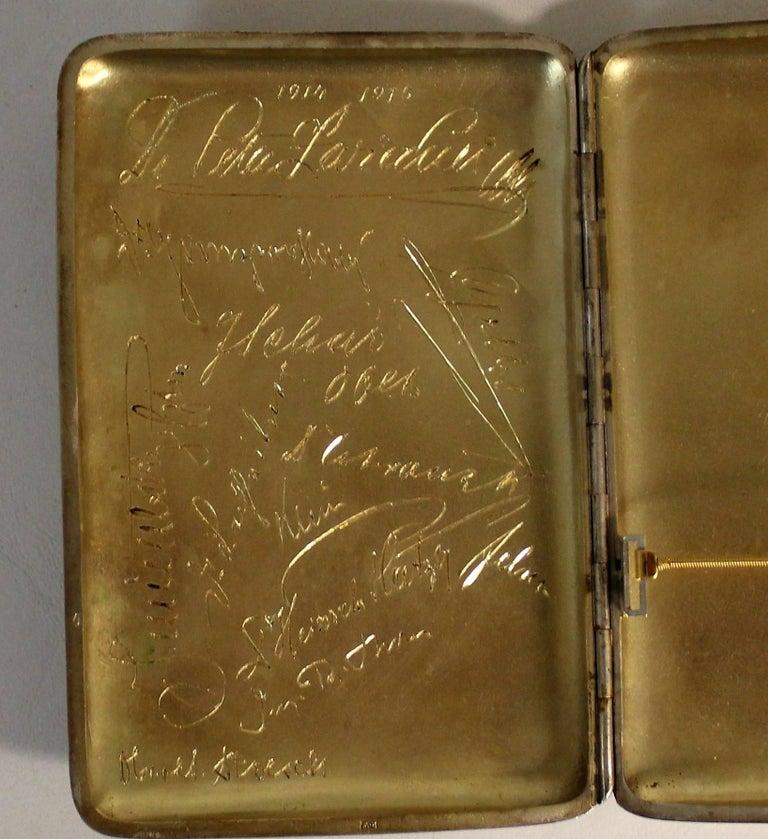 Russian Tsarist Silver Cigar Case For Sale 2