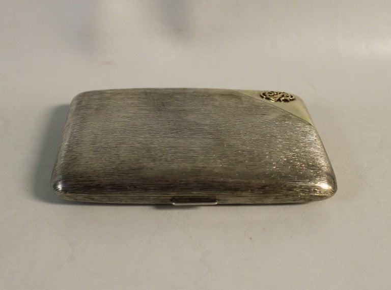 20th Century Russian Tsarist Silver Cigar Case For Sale