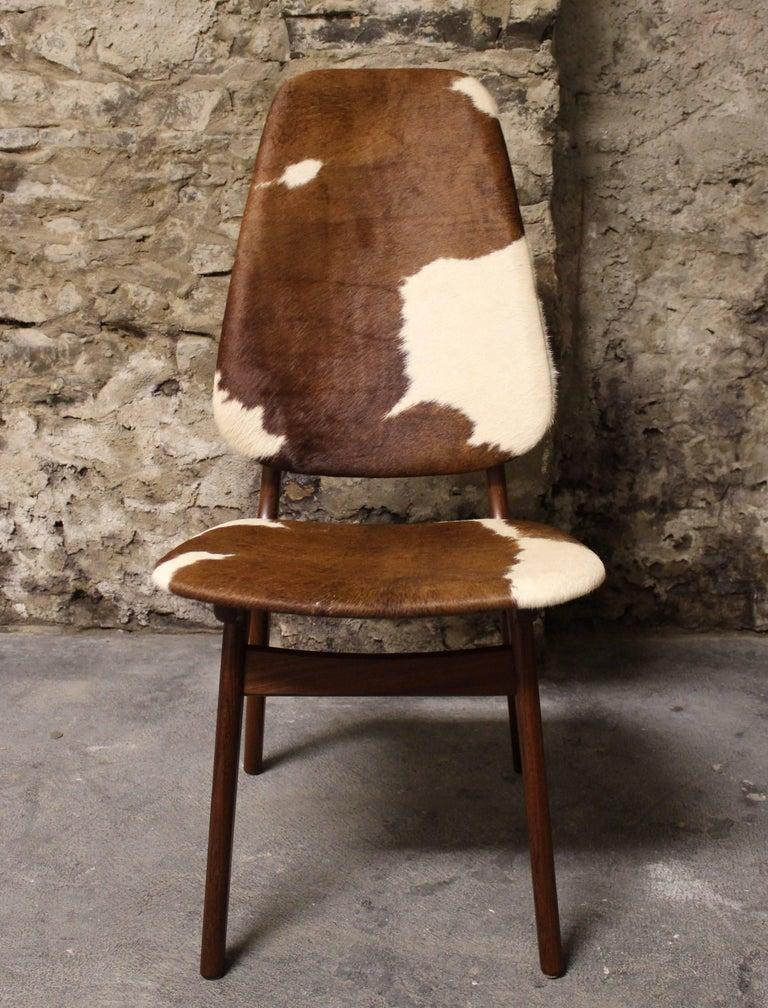 Four Arne Hovmand Olsen Danish Teak Dining Chairs With