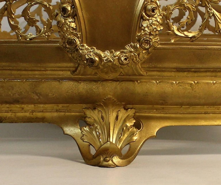 19th Century Gilt Centrepiece with Cut-Glass Insert For Sale 2