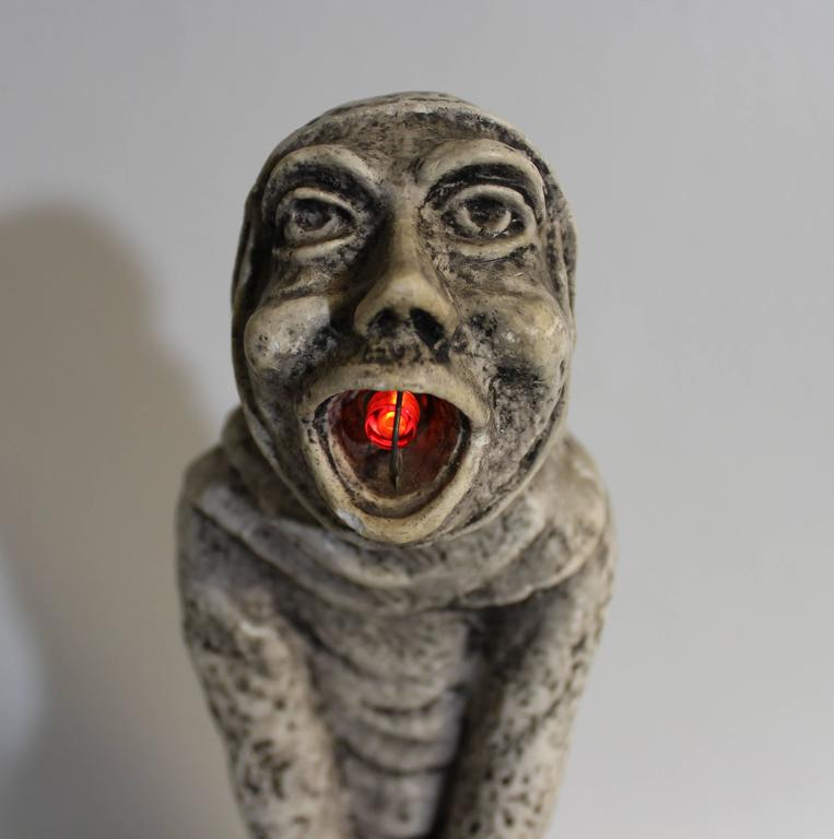 Great Britain (UK) 19th Century Gothic Sculptural Lamp of a Grotesque For Sale