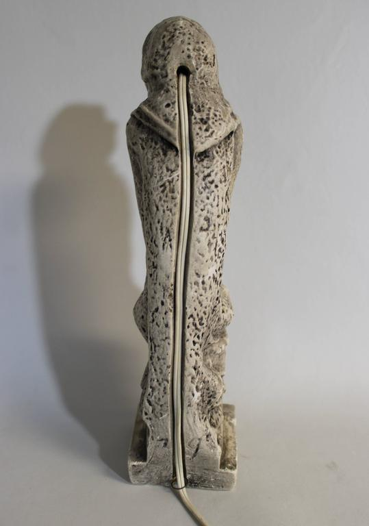 19th Century Gothic Sculptural Lamp of a Grotesque For Sale 3