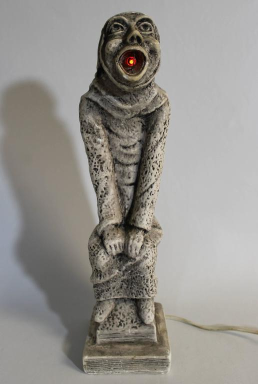 19th Century Gothic Sculptural Lamp of a Grotesque For Sale 2