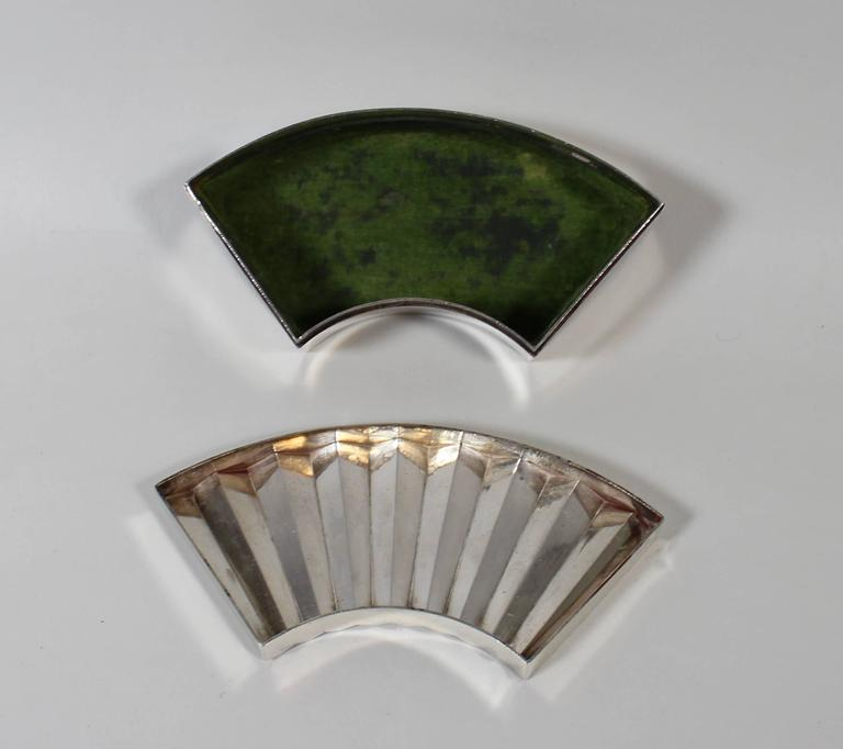 20th Century Japanese Sterling Silver Jewelry or Trinket Box For Sale