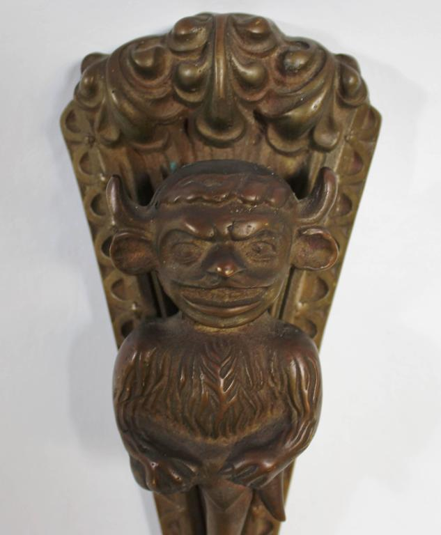 Horned devil door knocker.  Free shipping within the United States and Canada.