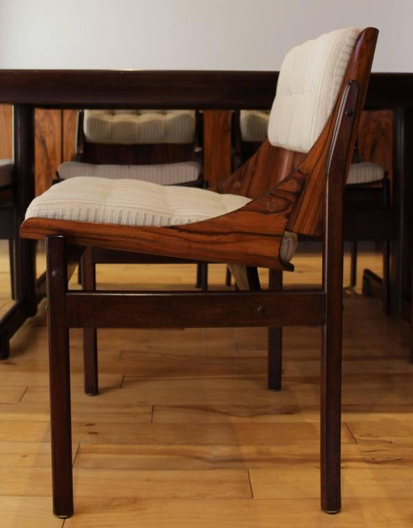 Brazilian jacaranda dining room set attributed to jorge for Dining room tables 38 inches wide