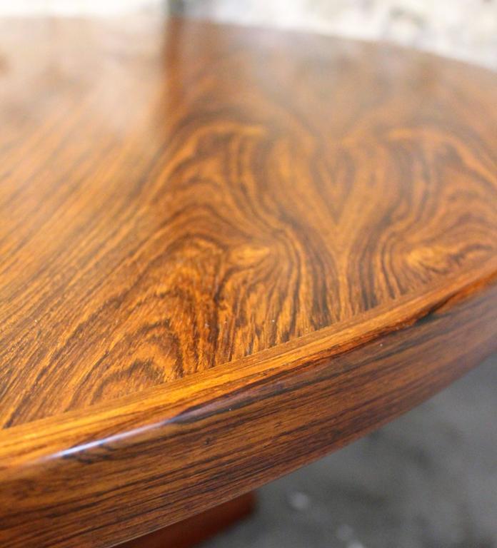 Erik Buck Brazilian Rosewood Dining Table for CJ Rosengaarden, Danish Modern In Good Condition In Hamilton, Ontario