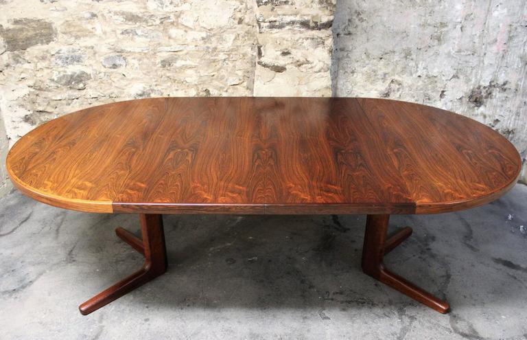 Erik Buck Brazilian Rosewood Dining Table for CJ Rosengaarden, Danish Modern 1