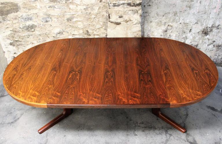 Erik Buck Brazilian Rosewood Dining Table for CJ Rosengaarden, Danish Modern 2