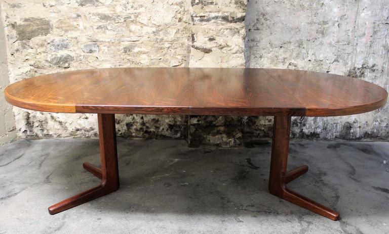 Erik Buck Brazilian Rosewood Dining Table for CJ Rosengaarden, Danish Modern 3