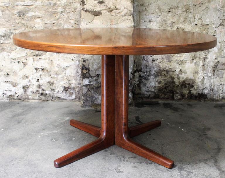 Scandinavian Modern Erik Buck Brazilian Rosewood Dining Table for CJ Rosengaarden, Danish Modern