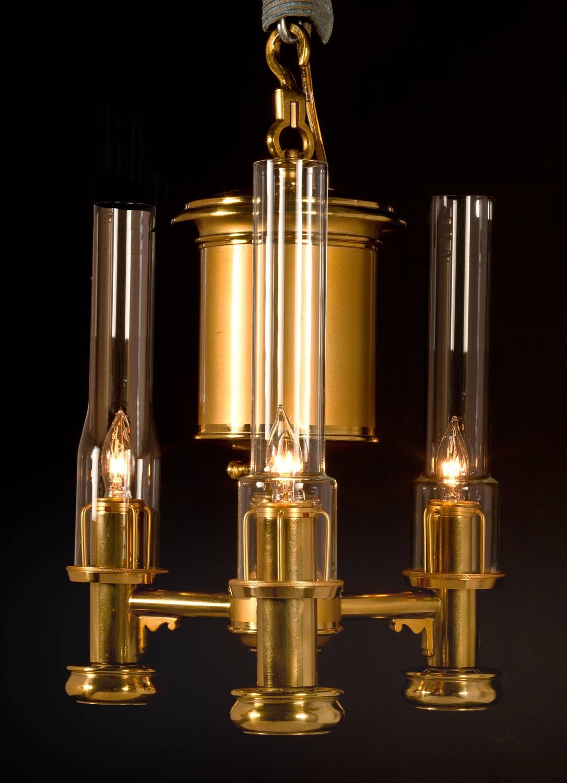 Three Light Pendant Argand Lamp circa 1825 at 1stdibs