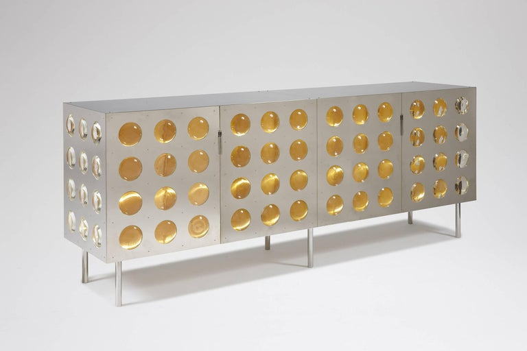 Copper Spinoza Sideboard by Patrick Naggar For Sale
