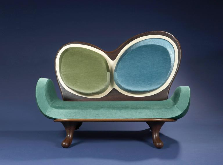 Contemporary Surf Sofa by Mattia Bonetti.  In stock For Sale