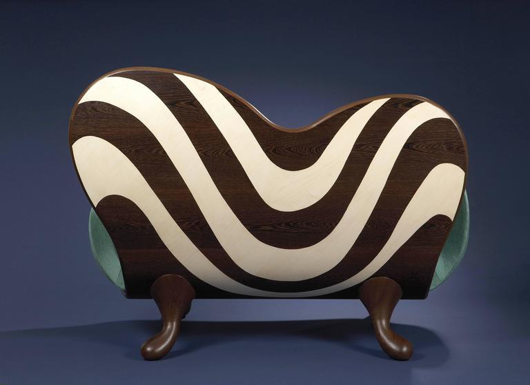 Velvet Surf Sofa by Mattia Bonetti.  In stock For Sale