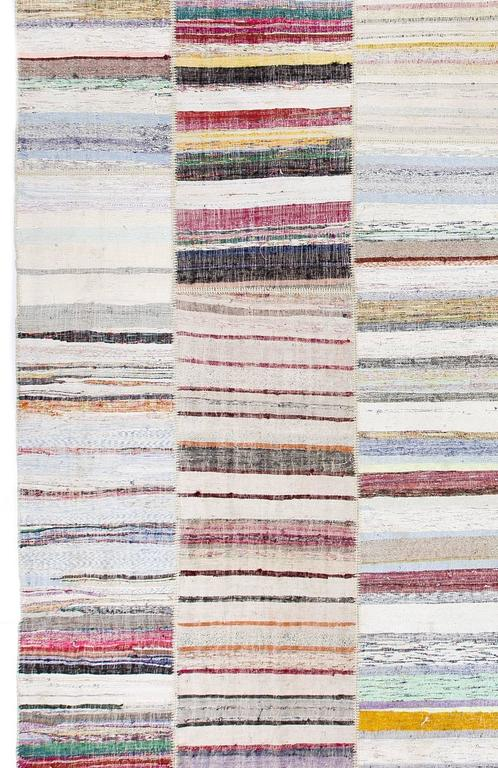 Fantastic Oversized Cotton Turkish Kilim For Sale At 1stdibs