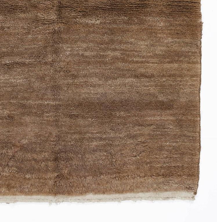 Plain Vintage Quot Tulu Quot Rug Made Of Natural Brown Wool For