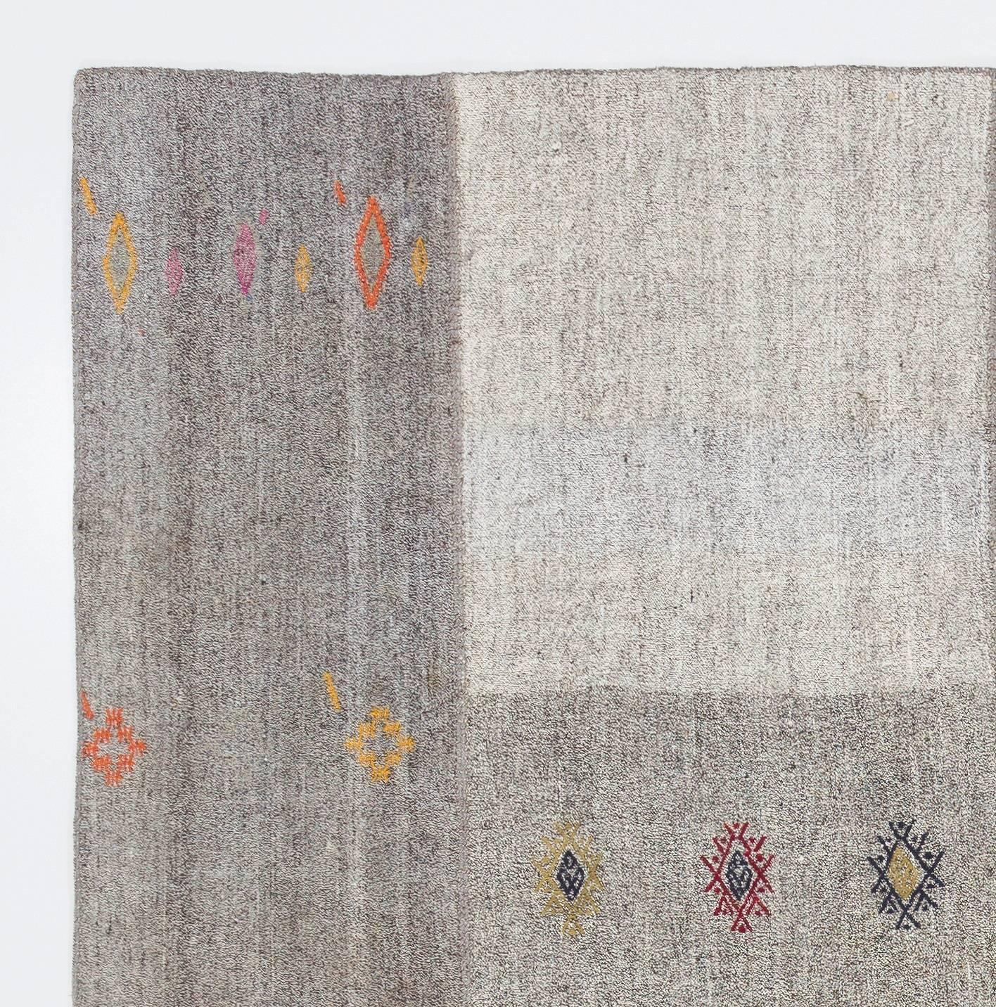 Cotton And Goat Hair Anatolian Kilim Rug For Sale At 1stdibs