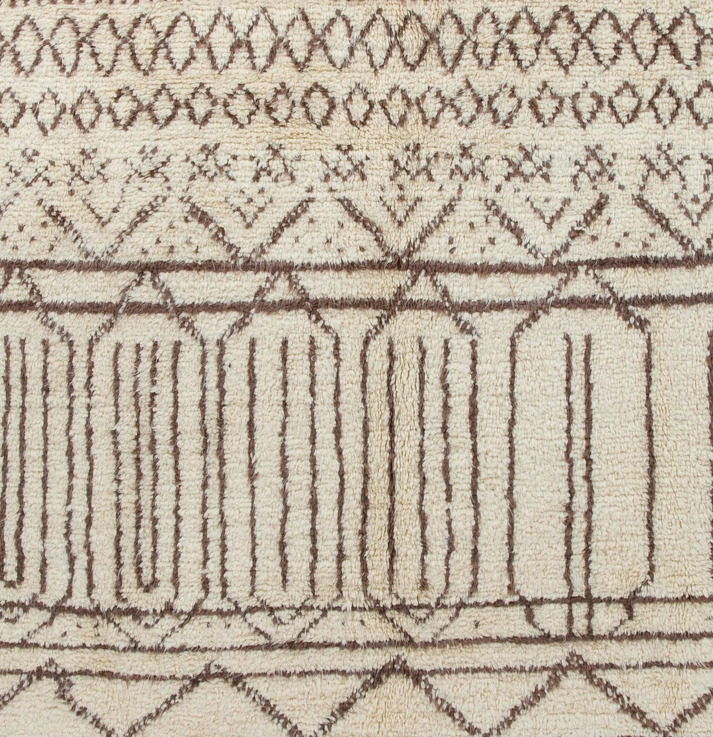 Moroccan Rug Made Of Natural Undyed Wool For Sale At 1stdibs