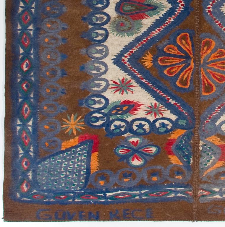 Large Vintage Felt Rug From Turkey For Sale At 1stdibs