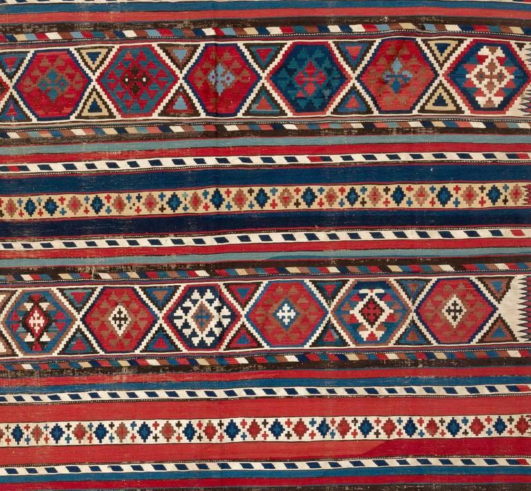 Caucasian Kilim Rug: Antique Caucasian Shirvan Kilim Rug For Sale At 1stdibs