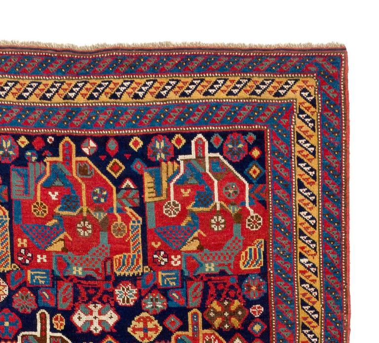 Qashqai Shiraz Rug: Antique Persian Qashqai Rug For Sale At 1stdibs