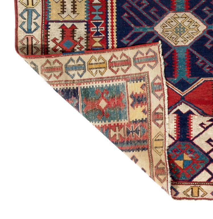 Caucasian Kilim Rug: Antique Caucasian Rug With Unusual Kilim Design For Sale