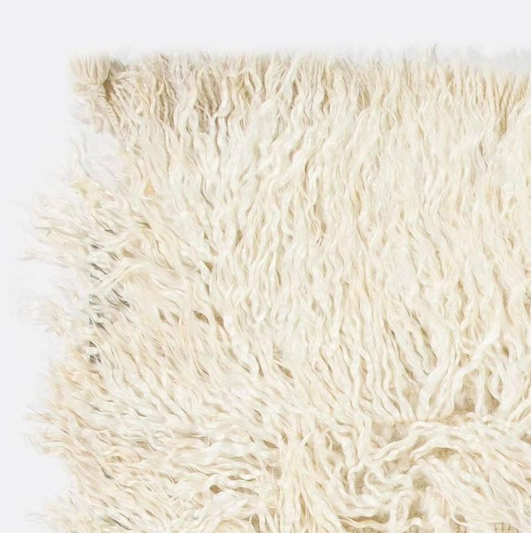 Shag Pile Mohair Tulu Rug  In Excellent Condition For Sale In Philadelphia, PA