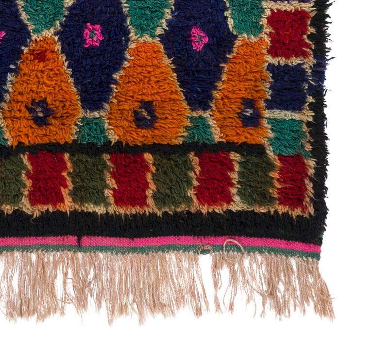 Colorful bohemian tulu rug for sale at 1stdibs for Colorful rugs for sale