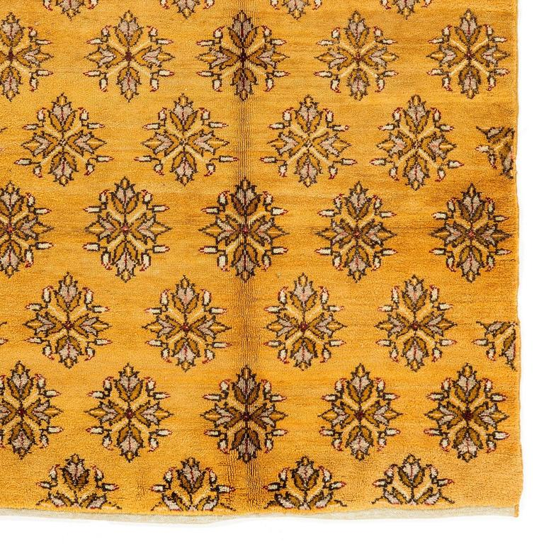 Unusual Karapinar Rug In Mustard Yellow Color For Sale At