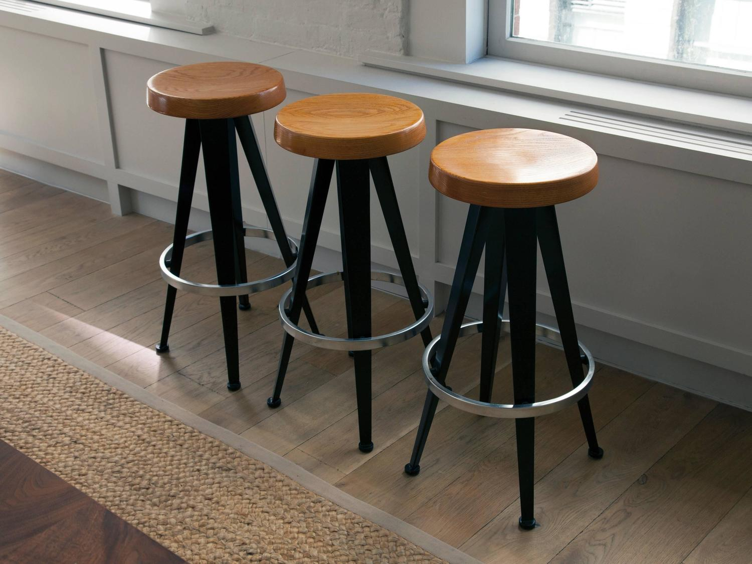 set of three stools after jean prouv at 1stdibs