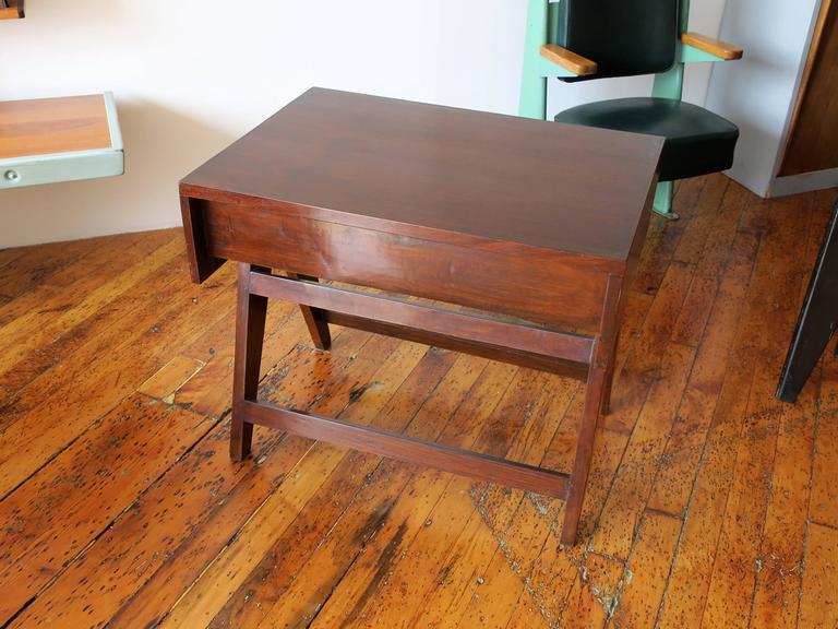 20th Century PIERRE JEANNERET Desk from the Administrative Building of Chandigarh For Sale