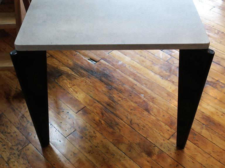 Steel Jean Prouvé Rare Flavigny Dining Table, circa 1945 For Sale
