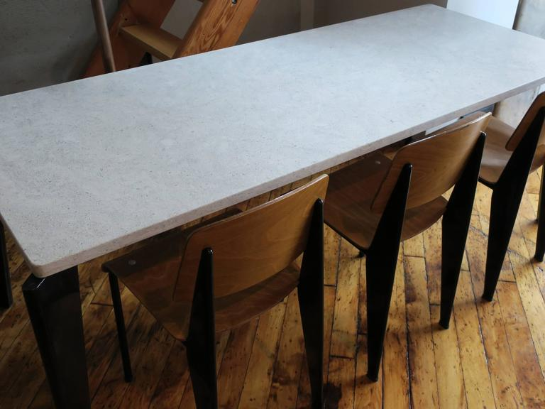 Mid-Century Modern Jean Prouvé Rare Flavigny Dining Table, circa 1945 For Sale