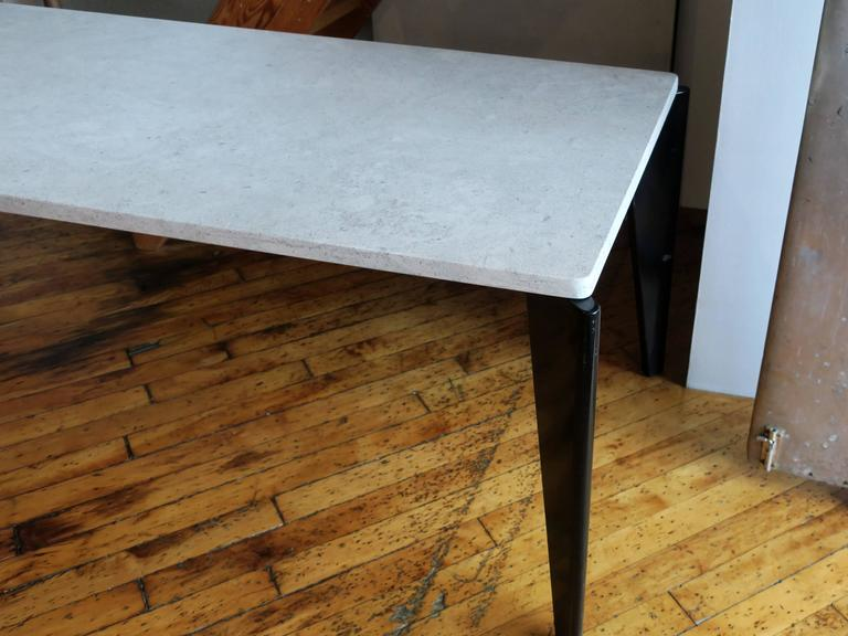 Jean Prouvé Rare Flavigny Dining Table, circa 1945 For Sale 1
