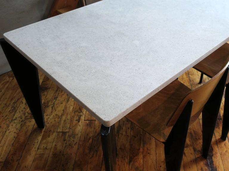 Jean Prouvé Rare Flavigny Dining Table, circa 1945 In Excellent Condition For Sale In Brooklyn, NY