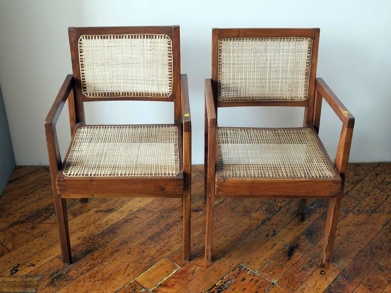 Indian Pierre Jeanneret Pair of Take Down Armchairs, circa 1955-60 For Sale