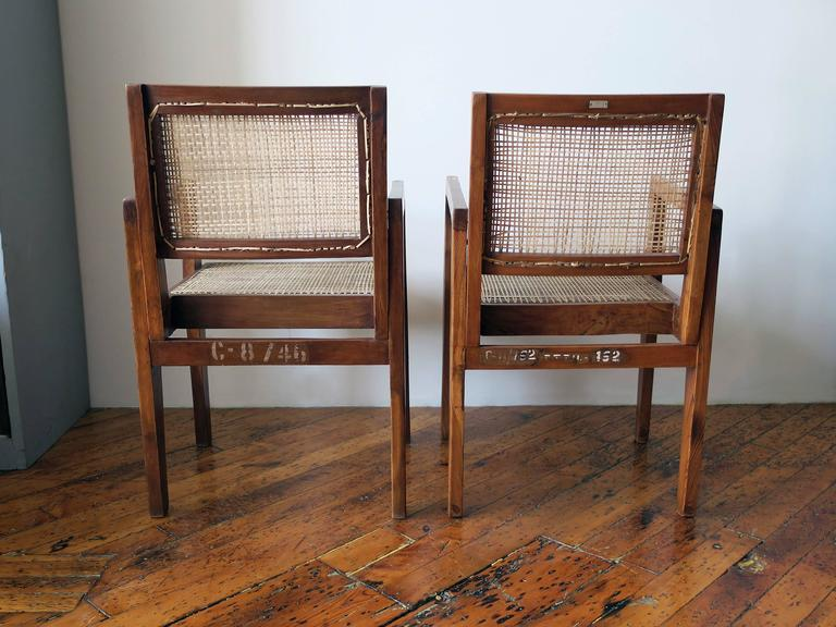 Pierre Jeanneret Pair of Take Down Armchairs, circa 1955-60 In Excellent Condition For Sale In Brooklyn, NY