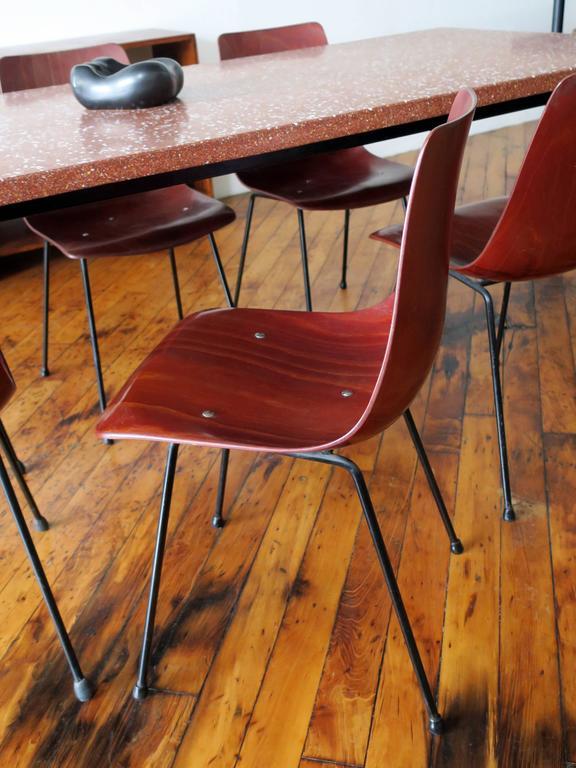Pierre Paulin Set of Six CM131 Dining Chairs, circa 1954 5