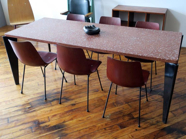 20th Century Pierre Paulin Set of Six CM131 Dining Chairs, circa 1954 For Sale