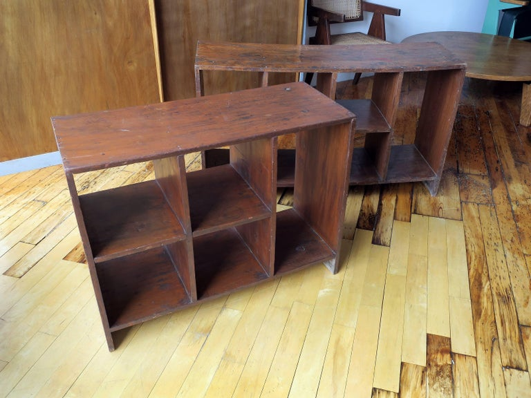 Teak Pierre Jeanneret File Rack from Chandigarh For Sale