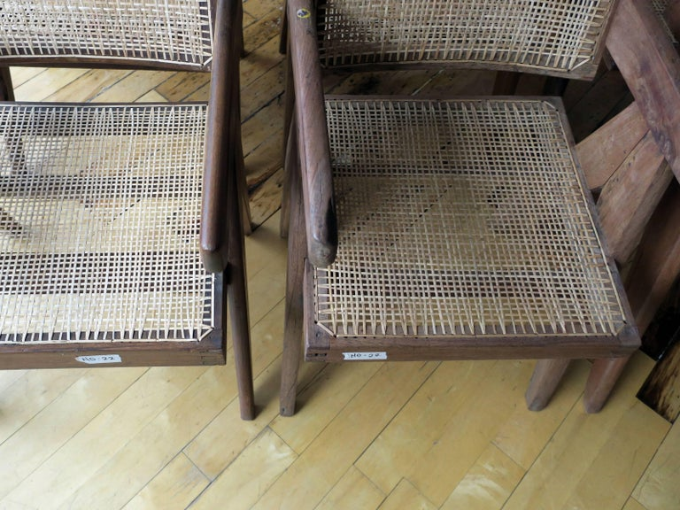 20th Century Pierre Jeanneret Grouping of Six Floating Back Armchairs For Sale