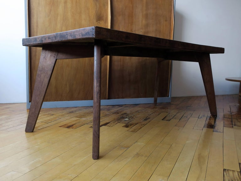 Pierre jeanneret dining table from chandigarh for sale at