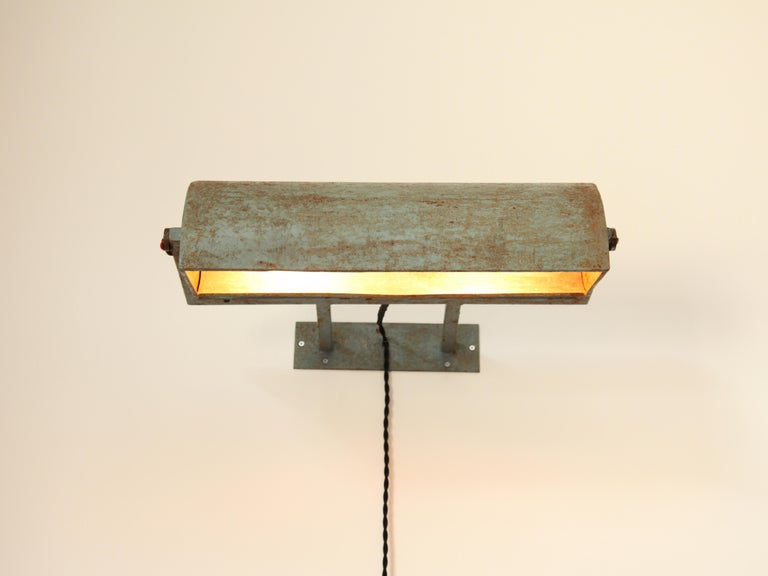 Indian Le Corbusier, Rare LCII Wall Lamps, circa 1954 For Sale