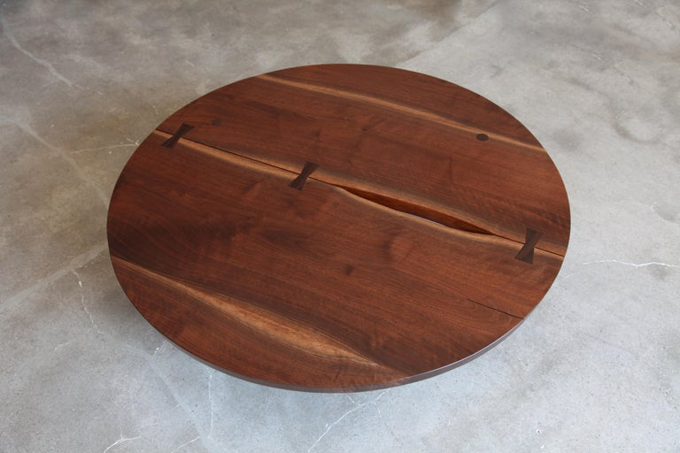 Mid-Century Modern George Nakashima, Round Coffee Table, circa 1960 For Sale